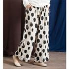 Printed Straight Fit Pants As Shown In Figure - One Size