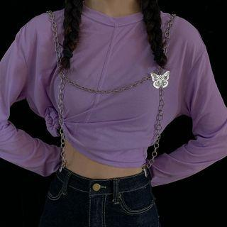 Chained Harness Belt Silver - One Size