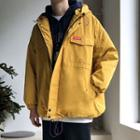 Plain Cargo Hooded Parka