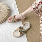 Striped Flat Sandals