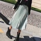 Pleated Plain Skirt