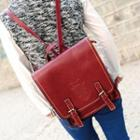 Faux-leather Flap Backpack