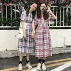 Check High-waist Dress
