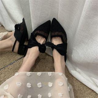 Pointed Bow Sandals