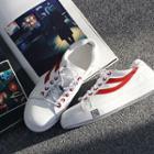 Contrast-trim Round-toe Sneakers