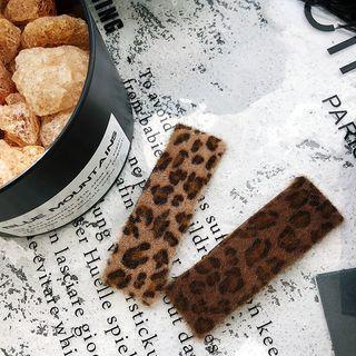 Leopard Print Fabric Hair Clip