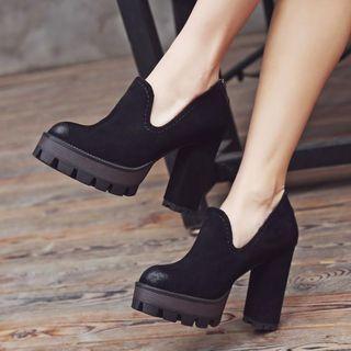 Chunky-heel Platform Shoes