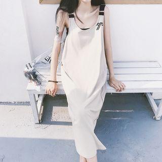 Set: Lettering Midi Tank Dress + Bandeau Top