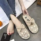 Perforated Round-toe Sandals