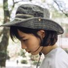 Striped Trim Sun Hat