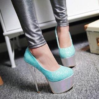 Glitter Platform Stilettos