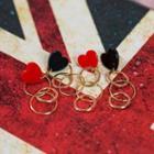 Heart Ring-chain Earrings