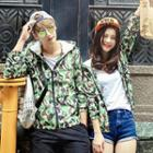 Couple Hooded Camouflage-print Jacket