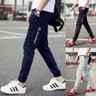 Slim-fit Lettering Casual Pants