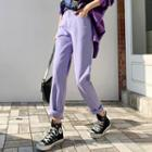 Pastel-color Tapered Pants