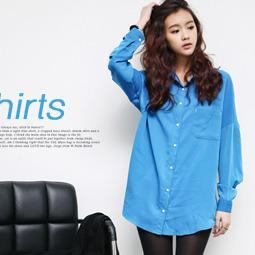 Drop-shoulder Pocket-front Shirt