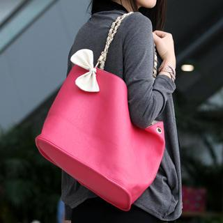 Reversible Tote Pink, Ivory - One Size