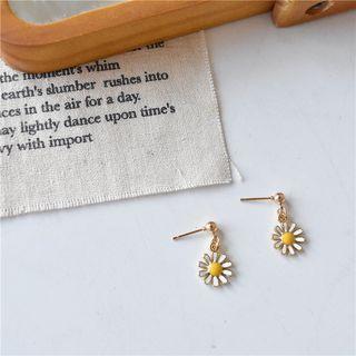 Flower Stud Earring 1 Pair - White - One Size