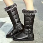 Furry Trim Tall Boots