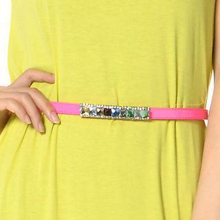 Multi-color Cystal Trim Belt