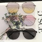 Geometric Metal Frame Sunglasses