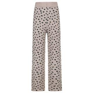 Floral Print Knit Straight-leg Pants