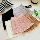 Pleated A-line Chiffon Skirt