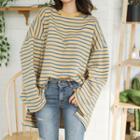 Dip-back Oversized Stripe T-shirt