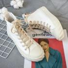 Double Zip High-top Canvas Sneakers