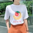 Printed Cotton Roundneck T-shirt