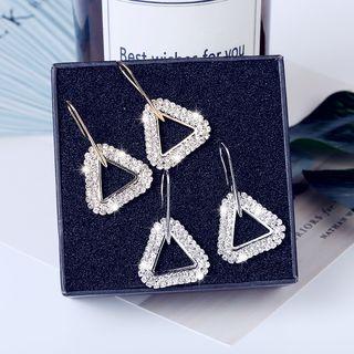 Rhinestone Triangle Drop Hook Earrings