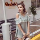 Striped Short Sleeve Knit Dress