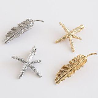 Alloy Leaf / Starfish Hair Clip