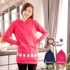 Polka-dot Rabbit Hooded Long-sleeve Top