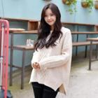 Wool Blend Cable-knit Top