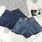 Denim A-line Shorts