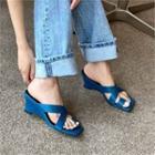 Toe-loop Cross-strap Wedge Sandals