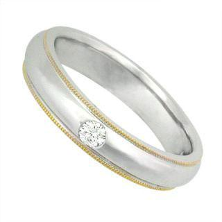 Tailor-made 18k White & Yellow Gold Ring With Diamonds
