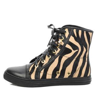 Genuine Leather High-top Sneakers