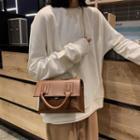 Top Handle Flap Chain Strap Crossbody Bag