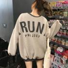 Long Sleeve Oversized Lettering Pullover