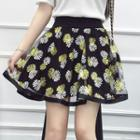 Printed Chiffon A-line Skirt