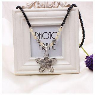 Floral Dangle Necklace