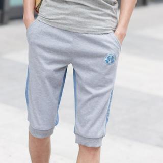 Color-block Cropped Sweatpants