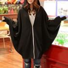Hooded Long Zip Jacket