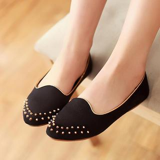 Studded Pointy Flats