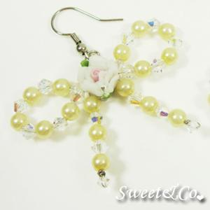 Sweetie Yellow Rose Swarovski Crystal Earrings
