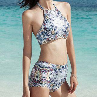Set: Patterned Tankini + Cover-up