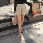 Band-waist Ruffled Shorts