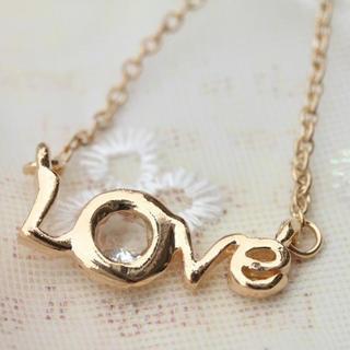 Diamond On Love Letter Necklace